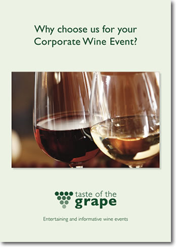 taste of the grape brochure